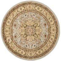 Safavieh Lyndhurst Traditional Oriental Grey/ Beige Rug (5'3 Round)