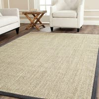 Safavieh Casual Natural Fiber Resorts Natural / Grey Fine Sisal Area Rug - 6' Square