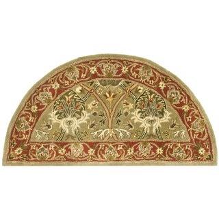 Attractive Safavieh Handmade Mahal Green/ Rust New Zealand Wool Rug (2u0027 X 4u0027
