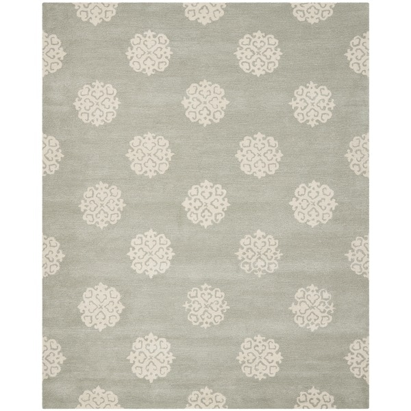 Safavieh Handmade Soho Grey/ Ivory New Zealand Wool Rug (9'6 x 13'6) - 9'6 x 13'6