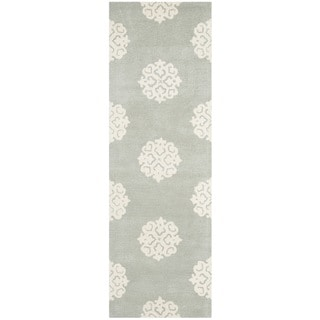 "Safavieh Handmade Soho Grey/Ivory New Zealand Wool Runner Rug (2'6"" x 8')"