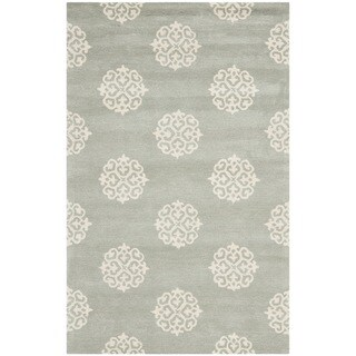 Safavieh Handmade Soho Grey/Ivory New Zealand Wool Area Rug (5'x 8')