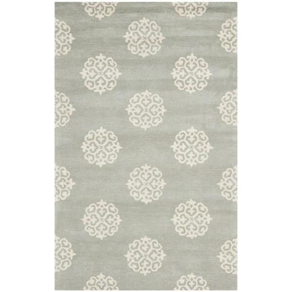 Safavieh Handmade Soho Grey/Ivory New Zealand Wool Area Rug (5'x 8')