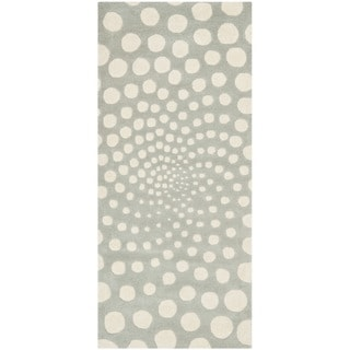 Safavieh Handmade Soho Grey/ Ivory New Zealand Wool Rug (2'6 x 6')