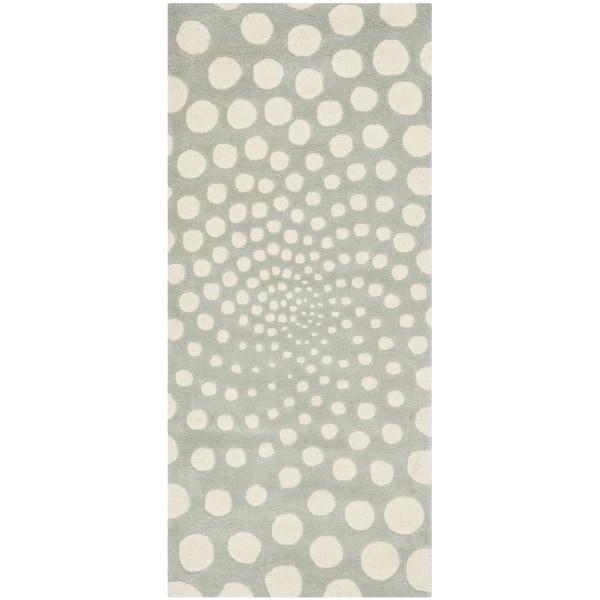 Safavieh Handmade Soho Grey/ Ivory New Zealand Wool Rug (2'6 x 6')