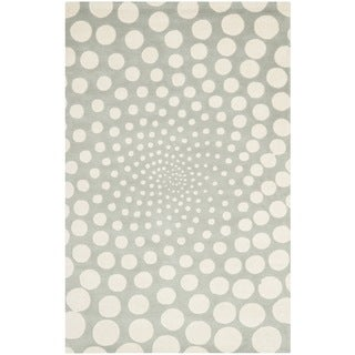Safavieh Handmade Soho Grey/ Ivory New Zealand Wool Rug (3'6 x 5'6')