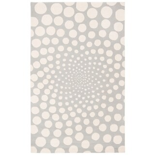 Safavieh Handmade Soho Grey/ Ivory New Zealand Wool Rug (5'x 8')