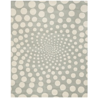 Safavieh Handmade Soho Grey/ Ivory New Zealand Wool Rug (8'3 x 11')