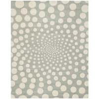 "Safavieh Handmade Soho Grey/ Ivory New Zealand Wool Rug - 8'3"" x 11'"