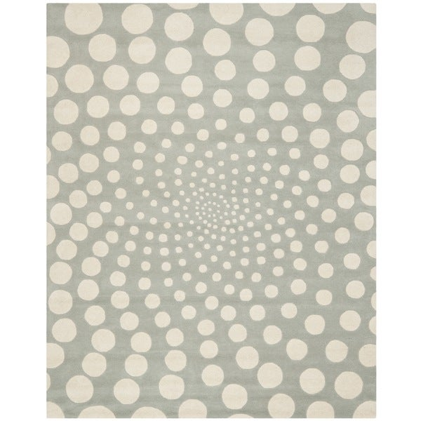 Safavieh Handmade Soho Grey/ Ivory New Zealand Wool Rug - 8'3 x 11'
