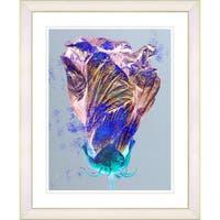 Studio Works Modern 'Purple Flower Bud' Framed Print