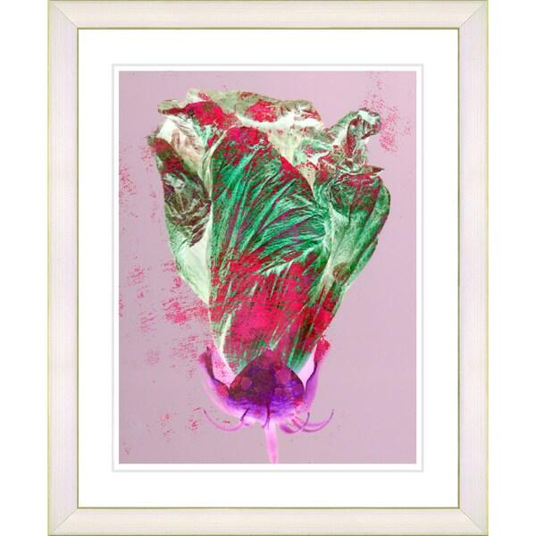 Studio Works Modern 'Red Flower Bud' Framed Print