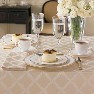 Lenox Laurel Leaf Lattice Cotton Blend Tablecloth (More options available)