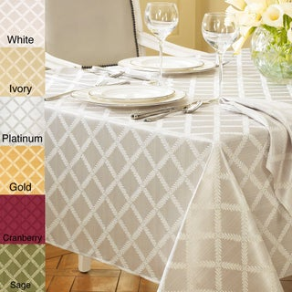 Lenox Laurel Leaf Lattice Cotton Blend Tablecloth (More options available)