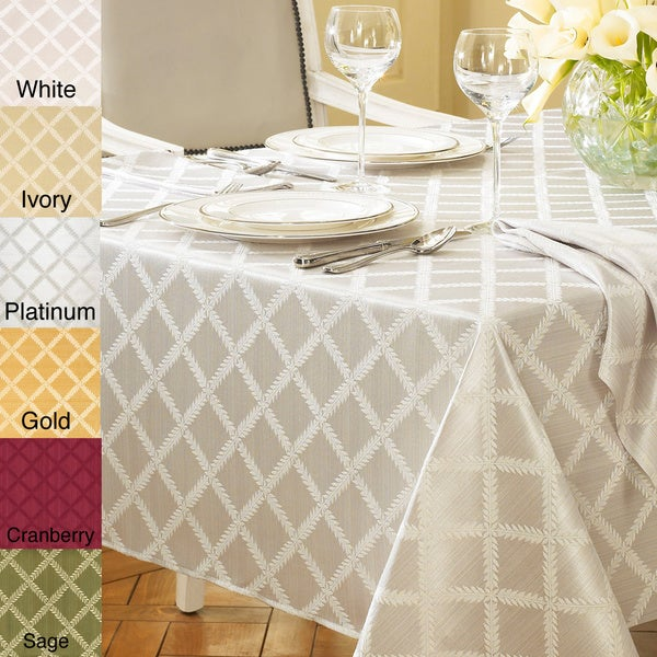 7e0e04e6aab Shop Lenox Laurel Leaf Lattice Cotton Blend Tablecloth - Free ...