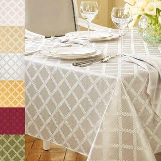 Lenox Laurel Leaf Lattice Cotton Blend Tablecloth (Option: Oblong)|https://ak1.ostkcdn.com/images/products/7847787/P15234900.jpg?impolicy=medium