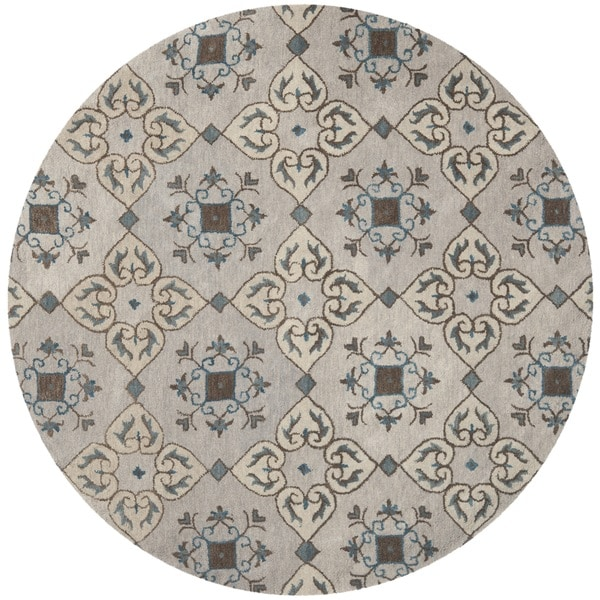 Safavieh Handmade Wyndham Beige New Zealand Wool Rug - 7' Round