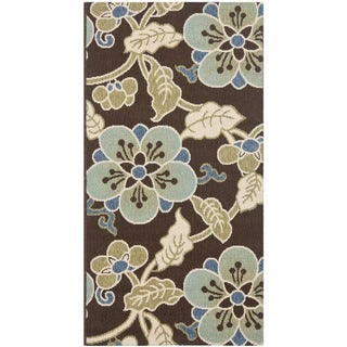 Safavieh Veranda Piled Chocolate/ Aqua Green Brown Rug (8' x 11' 2)