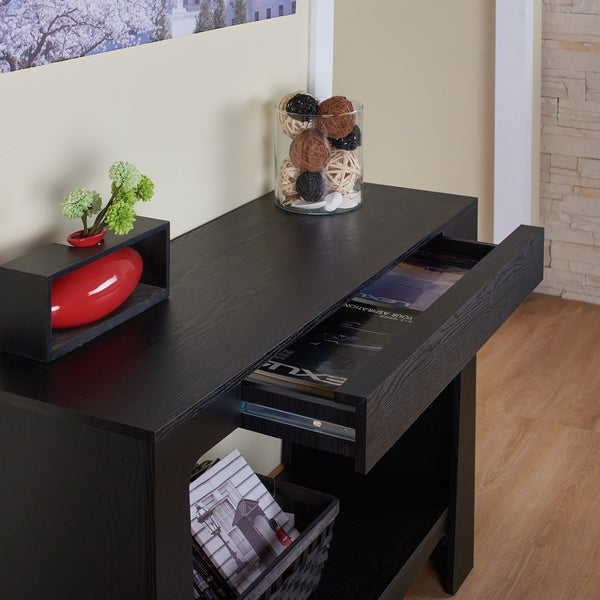 Furniture Of America Urbana Modern Hall/ Entry Way Black Console Table    Free Shipping Today   Overstock.com   15234914