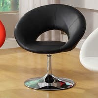 Furniture of America Millopi Padded Modern Leatherette Swivel Chair