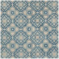 Safavieh Handmade Wyndham Blue New Zealand Wool Rug - 7' x 7' Square