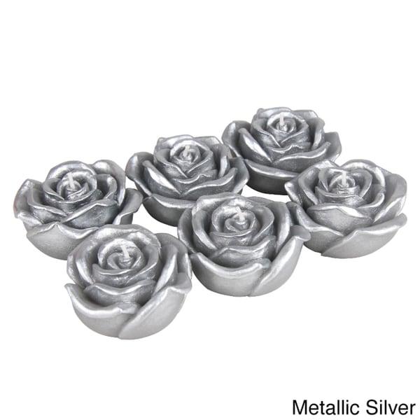 Metallic Rose Floating Candles (Case of 144)