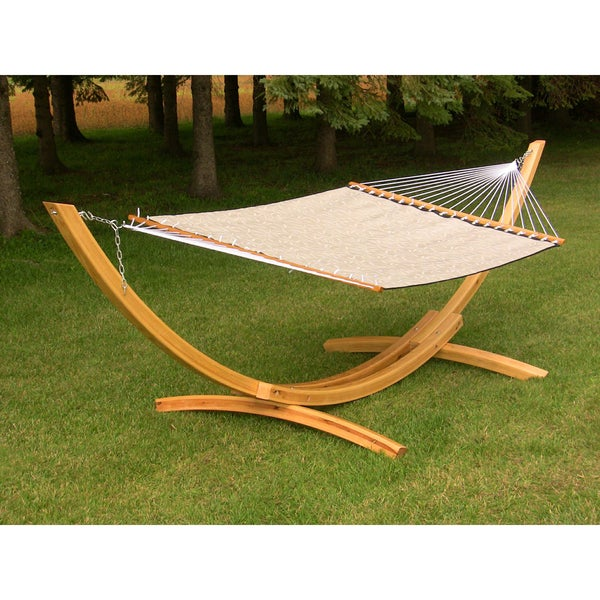 Beige Poolside Double Hammock