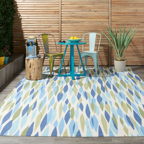 "Waverly Sun N' Shade Bits & Pieces Seaglass Area Rug by Nourison - 7'9"" x 10'10"""