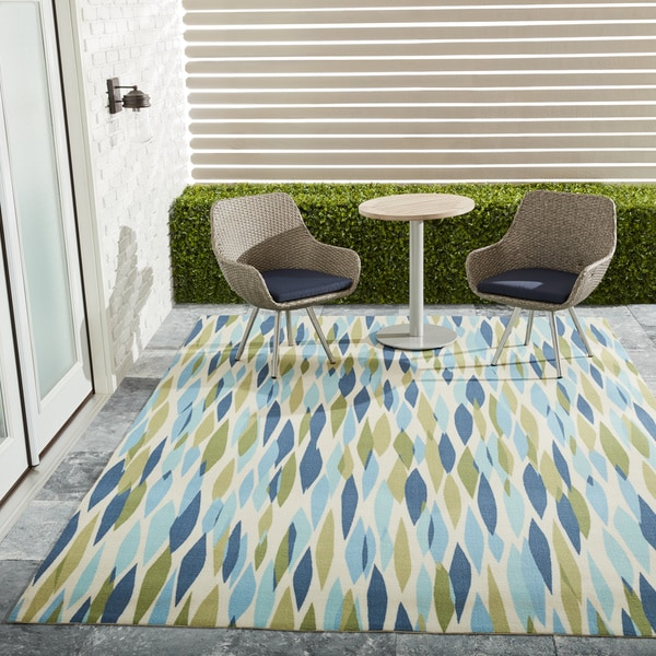 Waverly Sun N' Shade Bits & Pieces Seaglass Area Rug by Nourison - 7'9 x 10'10