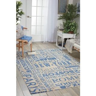 Waverly Sun N' Shade Pattern Destinations Citrus Area Rug by Nourison (7'9 x 10'10)