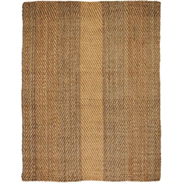 Victory Herringbone Jute Handwoven Rug (4' x 6')