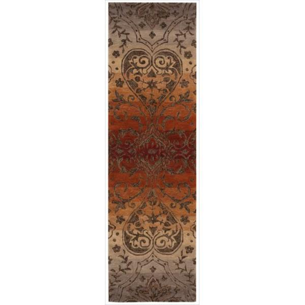 Hand-tufted Panorama Harvest Floral Rug (2'3 x 8' Runner)