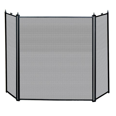 Uniflame 3-Fold Black Fireplace Screen