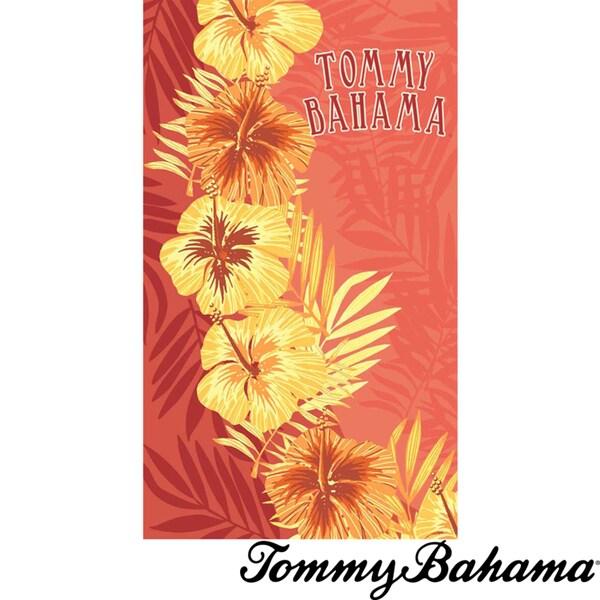 Tommy Bahama Hibiscus Orange Beach Towel