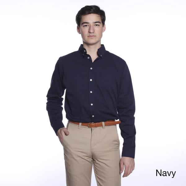 American Apparel Men's Cotton Twill Button-down Shirt