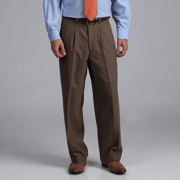Shop Phat Farm Men S Taupe Wool Suit Separate Wide Leg