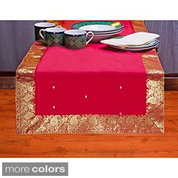 Handmade 14-Inch x 70-Inch Sari Table Runner (India) - 14 x 70