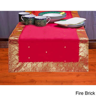 Handmade 14-Inch x 70-Inch Sari Table Runner (India) - 14 x 70 (More options available)