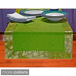 Handmade 14-Inch x 84-Inch Sari Table Runner (India) - 14 x 84