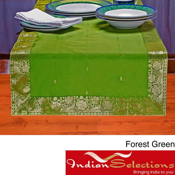 Handmade 14-Inch x 84-Inch Sari Table Runner (India) - 14 x 84