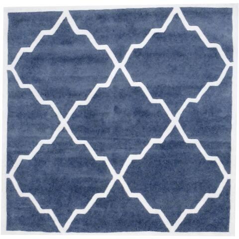 Handmade Wool Rug (India) - 6' x 6' Square