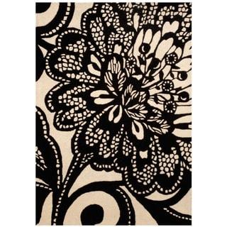 """Handmade Wool Rug (India) - 4'9"""" x 6'9"""""""