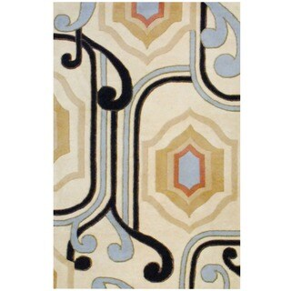 Herat Oriental Indo Hand-tufted Tibetan Wool Rug (5' x 8')