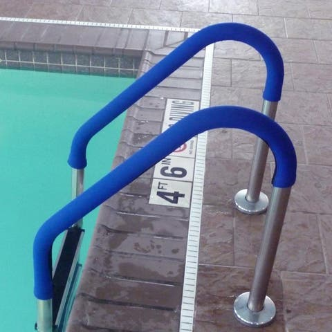 Rail Cover for Standard-Sized Pool Handrails - Blue