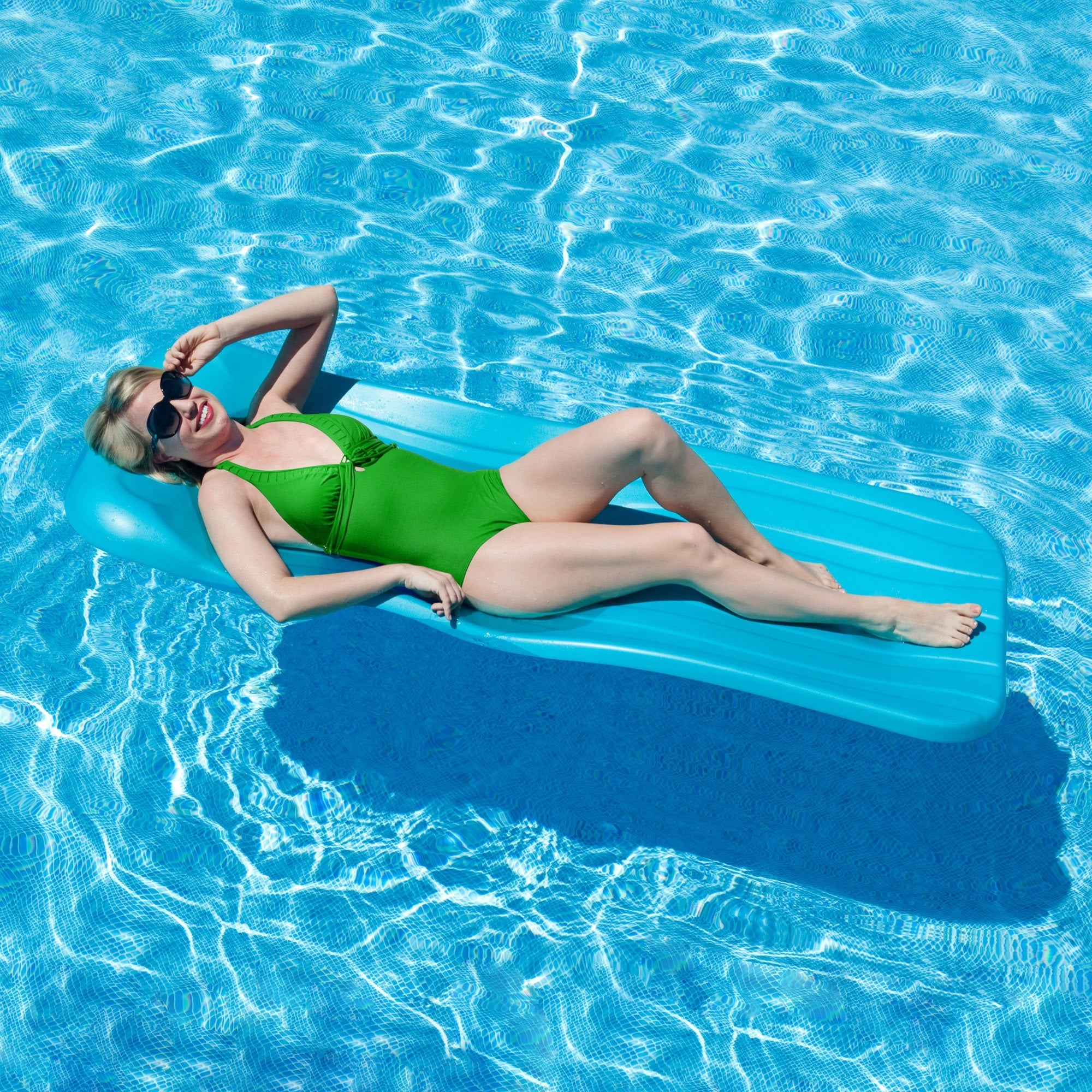 Aqua Cell Deluxe Cool 72-Inch x 1.75-Inch Pool Float (Blue)