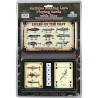 River's Edge 'Antique Lure' 2-Pack Playing Cards And Dice Gift Tin