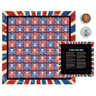 American Coin Treasures Lincoln Coin Checkers Set