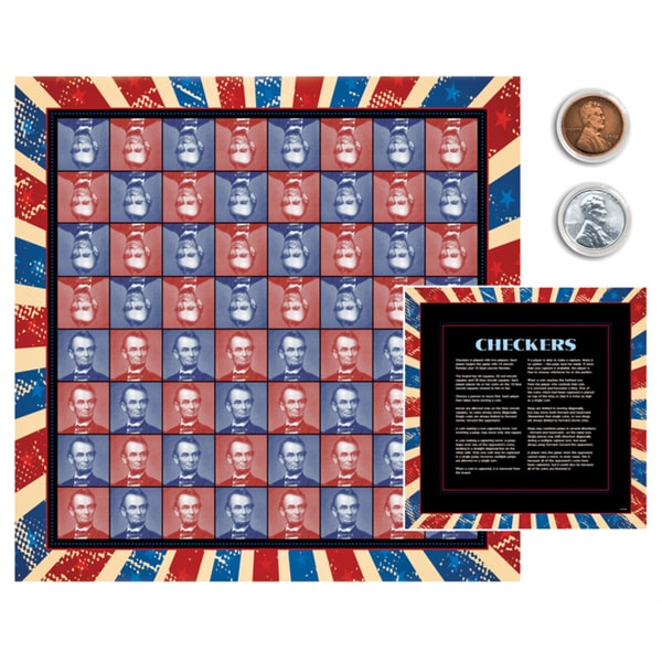 American Coin Treasures Lincoln Coin Checkers Set