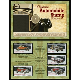 American Coin Treasures Vintage Automobile Stamp Collection