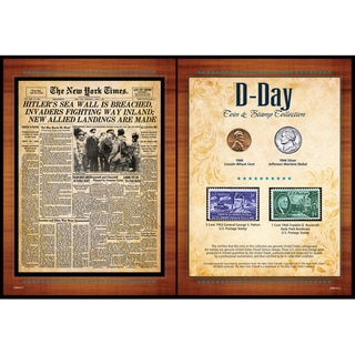 American Coin Treasures New York Times 'D Day' Coin and Stamp Collection